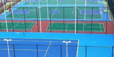广东铺设硅pu篮球场多少钱一平米?【水泽士体育】