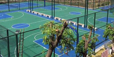 塑胶硅PU篮球场