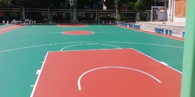 学校硅PU篮球场材料