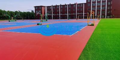 室外复合型硅pu排球场