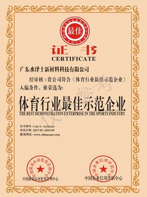 水泽士荣誉证书