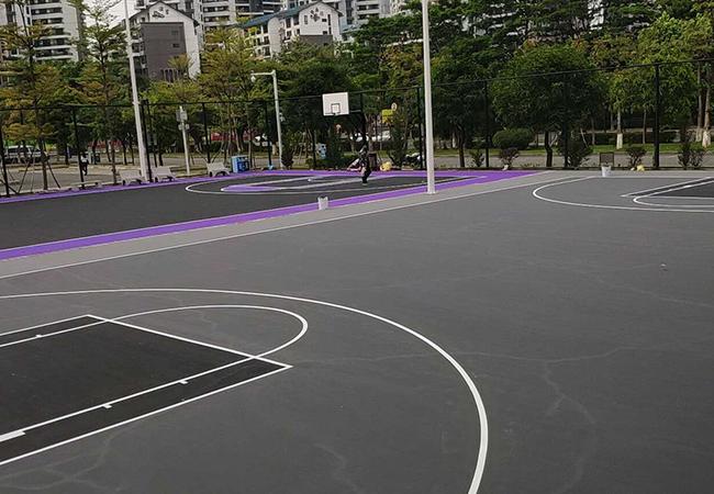 硅pu球场颜色